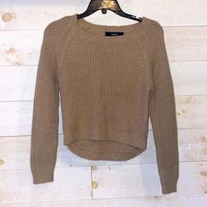 FOREVER 21 Women's Tan Chunky Cable Knit Sweater Size S